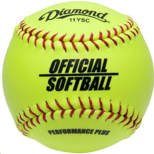 Diamond 11-Inch Synthetic Optic Cover Softballs (Dozen) 11YSC