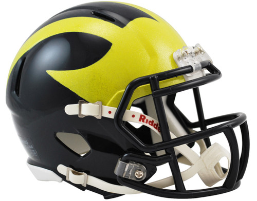 Michigan Wolverines 2016 (Painted Metallic) NCAA Riddell Speed Mini Helmet