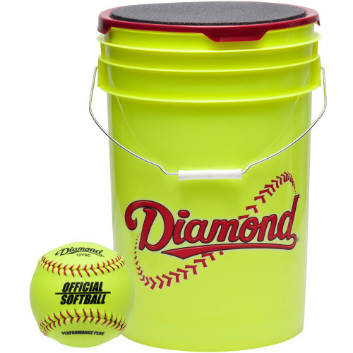 Diamond 18 Bucket Combo 12 inch Softballs (includes 18 12YSC Softballs)
