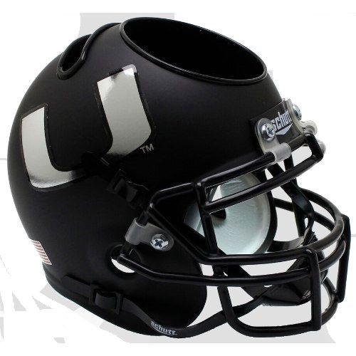 Miami Hurricanes Alternate Black Mini Helmet Desk Caddy by Schutt