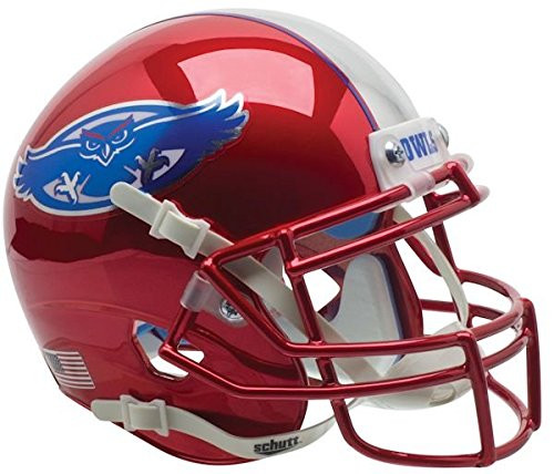 Florida Atlantic Owls Red Chrome Schutt Mini Authentic Football Helmet