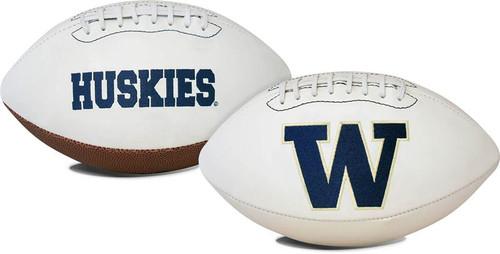 Signature Series NCAA Washington Huskies Autograph Full Size Football