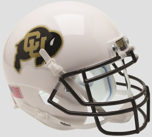Colorado Buffaloes Alternate White Schutt Mini Authentic Football Helmet