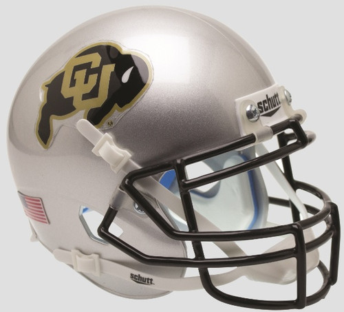 Colorado Buffaloes Alternate Silver Schutt Mini Authentic Football Helmet