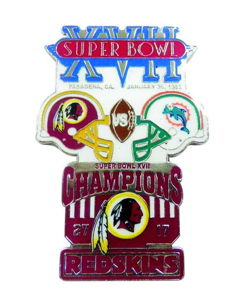 Super Bowl XVII (17) Commemorative Lapel Pin