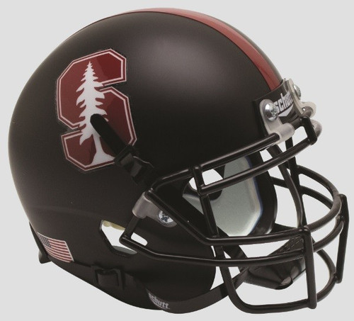 Stanford Cardinal 2015 Alternate Black Tree Schutt Full Size Replica XP Football Helmet