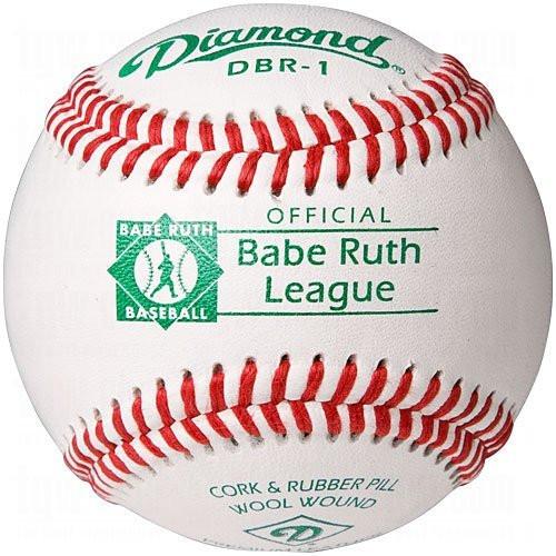 Diamond DBR-1 Babe Ruth League Leather Baseballs Dozen