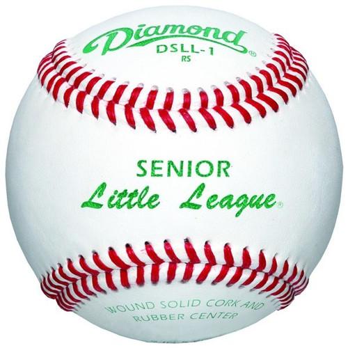 Diamond DSLL-1 Senior Little League Leather Baseballs Dozen