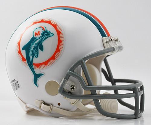Miami Dolphins 1972 Throwback Riddell Mini Helmet