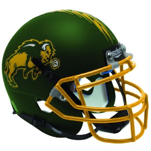 North Dakota State Bison Matte Green Schutt Mini Authentic Football Helmet