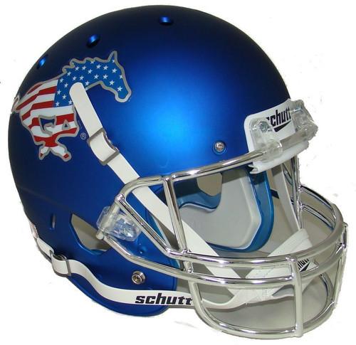 Southern Methodist SMU Mustangs Chrome Flag Alternate Schutt Full Size Replica XP Football Helmet