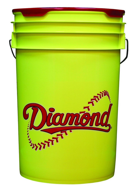 Diamond 6 Gallon Yellow Bucket With Padded Lid Black BKT Y
