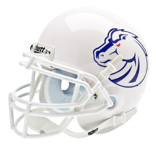 Boise State Broncos New 2011 Logo Schutt White Mini Authentic Helmet