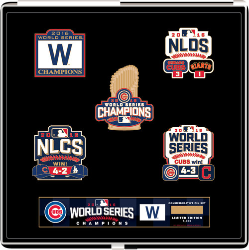 Chicago Cubs 2016 World Series Champions Commemorative Pin Set - Limited to 5,000 made (less than 500 left)