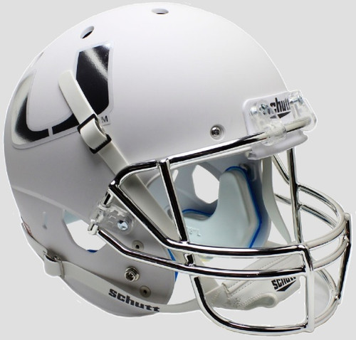 Miami Hurricanes Alternate White Chrome Schutt Full Size Replica XP Football Helmet