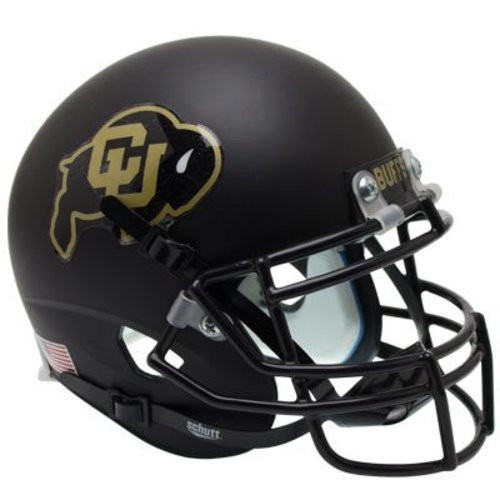 Colorado Buffaloes Alternate Black Schutt Full Size Replica XP Football Helmet