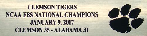 Clemson Tigers 2017 NCAA FBS Nationals Champions Mini Football Helmet Display Case