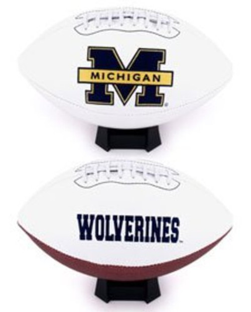 Signature Series NCAA Michigan Wolverines Autograph Full Size Football