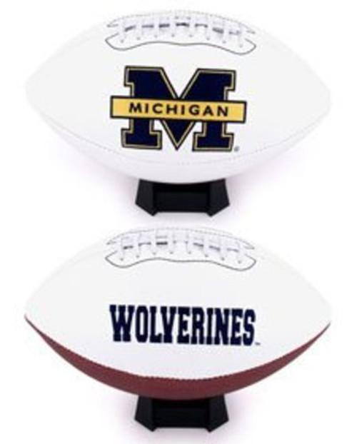 Signature Series NCAA Michigan Wolverines Autograph Full Size Football