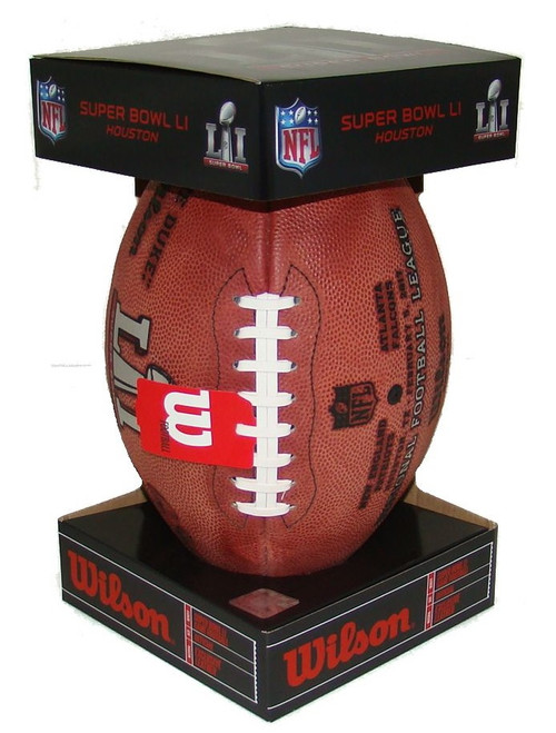 Super Bowl LI (Fifty-One 51) Atlanta Falcons vs. New England Patriots Official Leather Authentic Game Football by Wilson