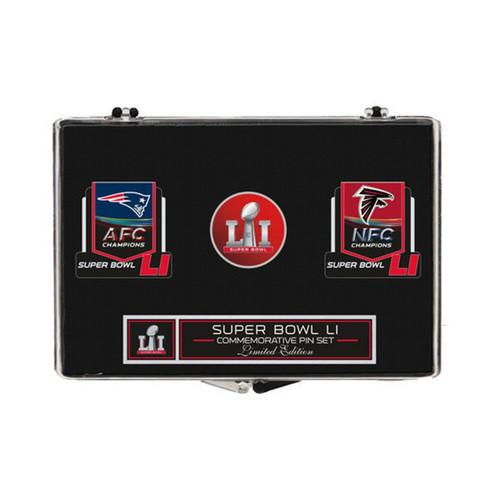 Wincraft Super Bowl LI (51) Patriots vs. Falcons Dueling Pin Set