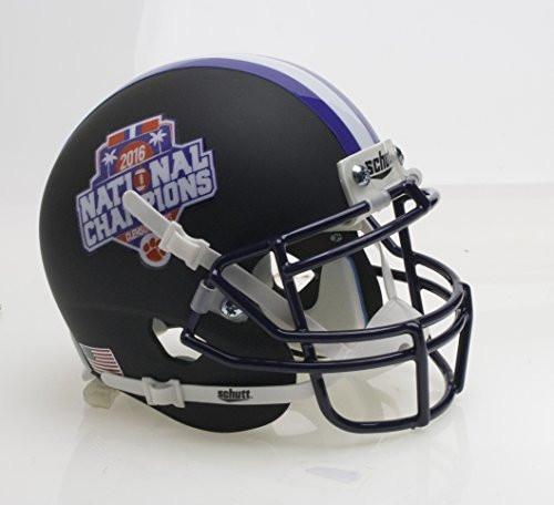 Clemson Tigers Alternate BLACK Special FBS NCAA National Champions Schutt Authentic Mini Football Helmet