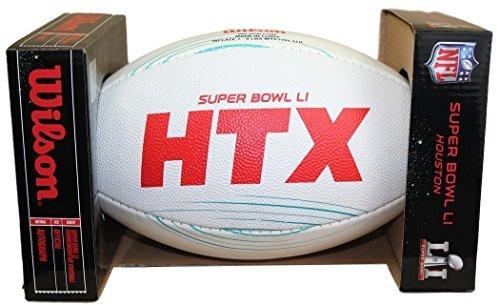 NFL Wilson Official Super Bowl 51 LI Commemorative All-White Dueling Football