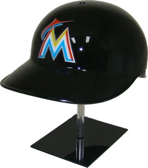 Miami Marlins Black Official MLB NEC Base Coach's Catcher's Helmet