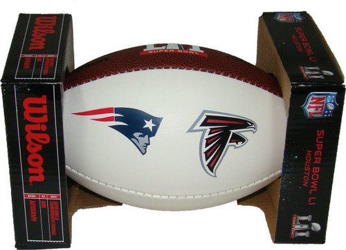 Super Bowl LI 51 Official White Panel Dueling Autograph Mini Football by Wilson (Boxed)