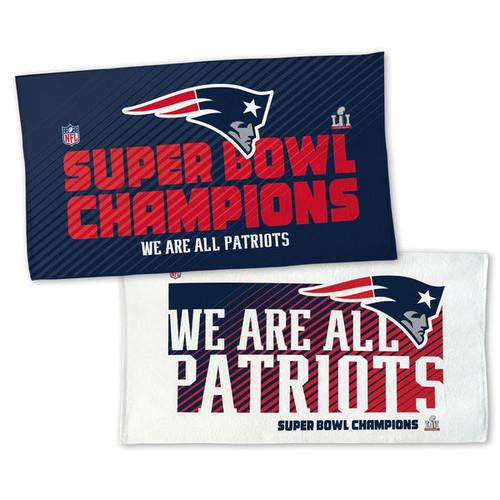 """New England Patriots WinCraft Super Bowl LI Champions 22"""" x 42"""" On-Field Celebration Locker Room Towel"""
