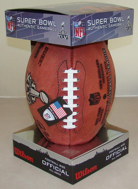 Super Bowl XLVI (Forty-Six 46) New York Giants vs. New England Patriots Official Leather Authentic Game Football by Wilson