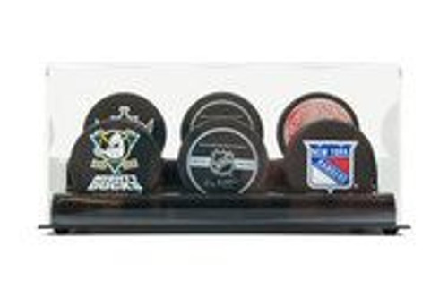 DELUXE ACRYLIC SIX HOCKEY PUCK DISPLAY CASE