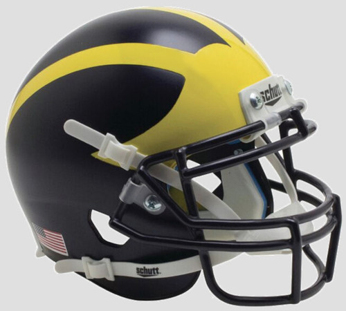 Michigan Wolverines 2016 Matte Satin Painted Schutt Mini Authentic Football Helmet
