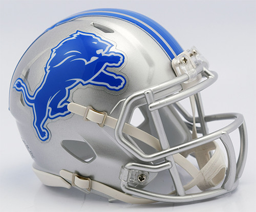 Detroit Lions 2017 New Logo Revolution SPEED Mini Helmet