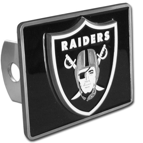 LAS VEGAS RAIDERS NFL TRUCK TRAILER HITCH COVER
