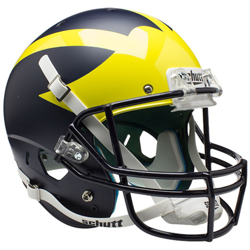 Michigan Wolverines Alternate Satin Blue Schutt Full Size Replica XP Football Helmet