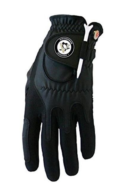 Zero Friction NHL Pittsburgh Penguins Black Golf Glove, Left Hand