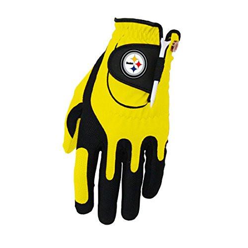 Zero Friction NFL Pittsburgh Steelers Yellow Golf Glove, Left Hand