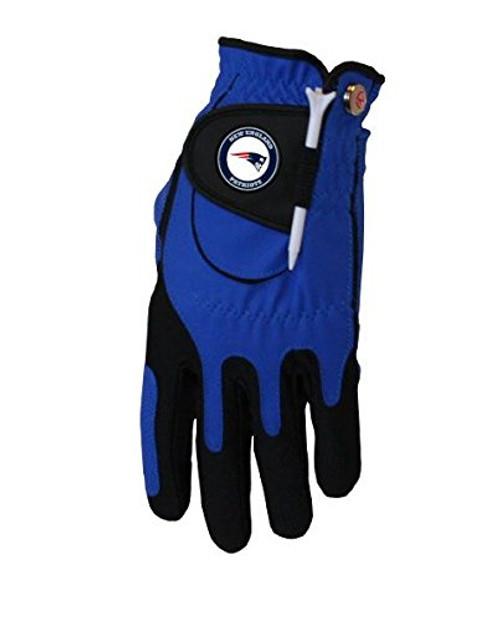 Zero Friction NFL New England Patriots Blue Golf Glove, Left Hand