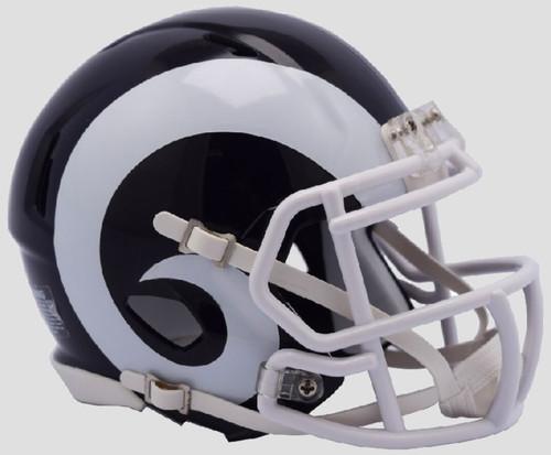 Los Angeles Rams 2017 Logo Revolution Speed Mini Helmet