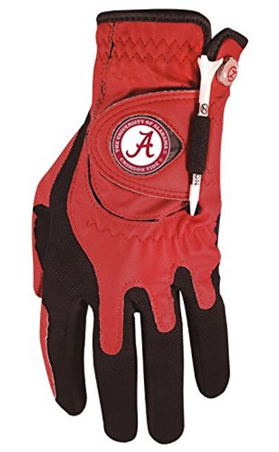 Zero Friction NCAA Alabama Crimson Tide Red Golf Glove, Left Hand