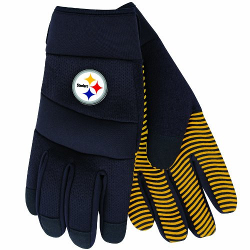 NFL Pittsburgh Steelers Black Deluxe Utility Work Gloves