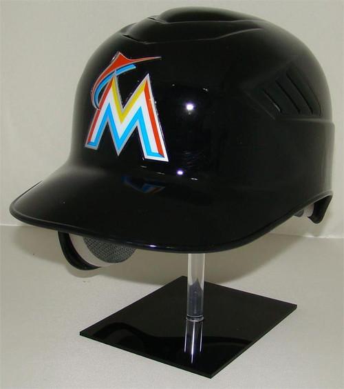 Miami Marlins Black Rawlings Coolflo REC Full Size Baseball Batting Helmet