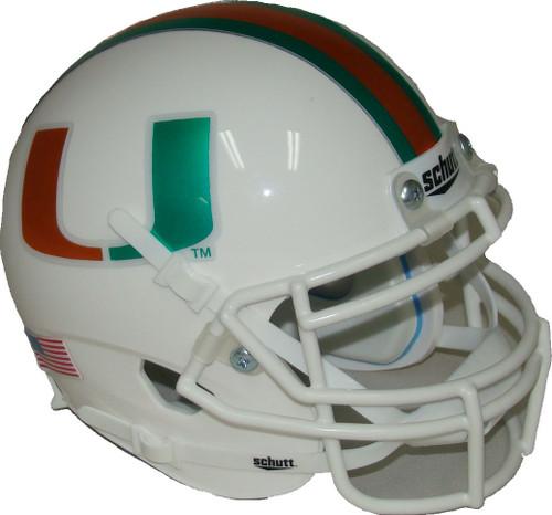 Miami Hurricanes Chrome Schutt Mini Authentic Football Helmet