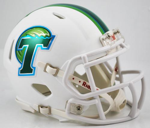 Tulane Green Wave Matte White NCAA Riddell SPEED Mini Helmet