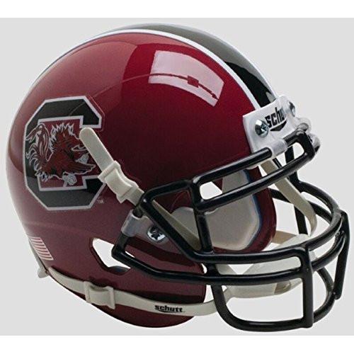 South Carolina Gamecocks Alternate Maroon Garnet Schutt Authentic Mini Football Helmet