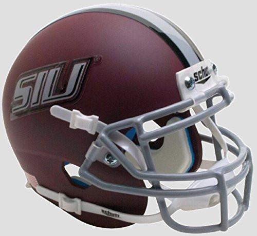 Southern Illinois Salukis Matte Maroon Schutt Authentic Mini Football Helmet