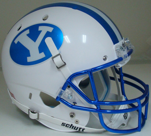Brigham Young BYU Cougars Alternate Chrome Schutt Full Size Replica XP Football Helmet