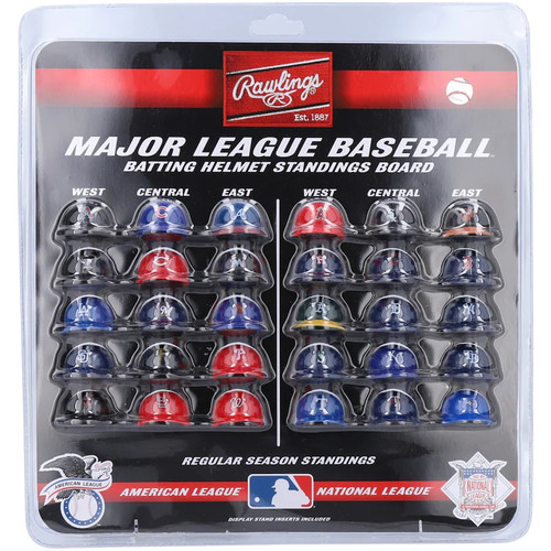 MLB MICRO MINI POCKET PRO PACK BATTING HELMET STANDINGS DISPLAY BOARD SET