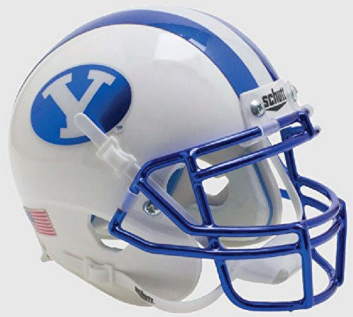 BYU Brigham Young Cougars Alternate Chrome Schutt Mini Authentic Football Helmet